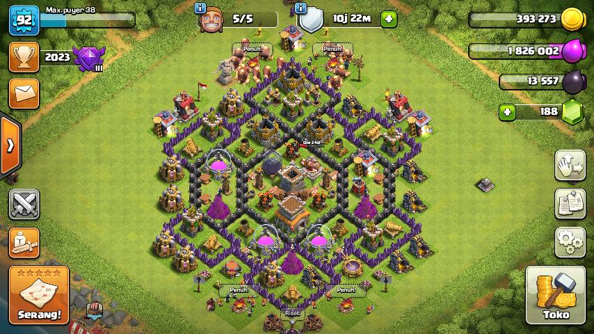 Base Coc Th 8 Unik 2